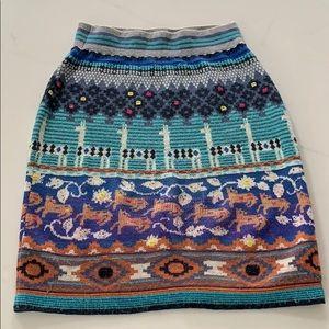 Anthro Wool Blend Fun Skirt